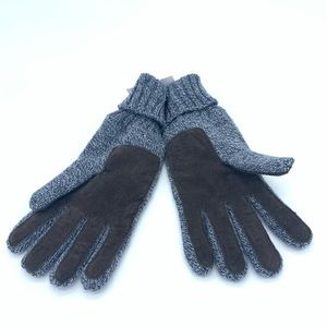 J. Crew Marled Suede Knit Gloves NWT